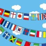 運動会や体育祭に掲げる万国旗