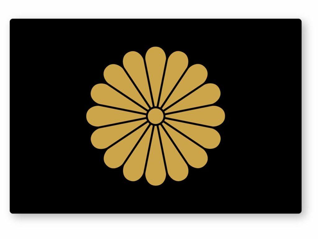 菊の紋章のステッカー